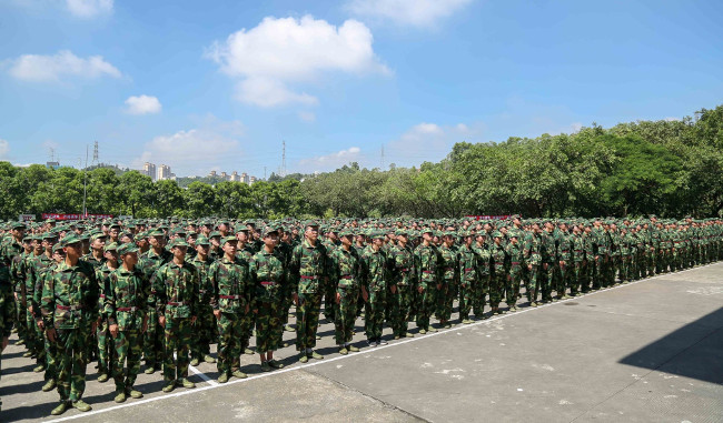 SUSTech's 2017 Freshmen Carry Out Military Training