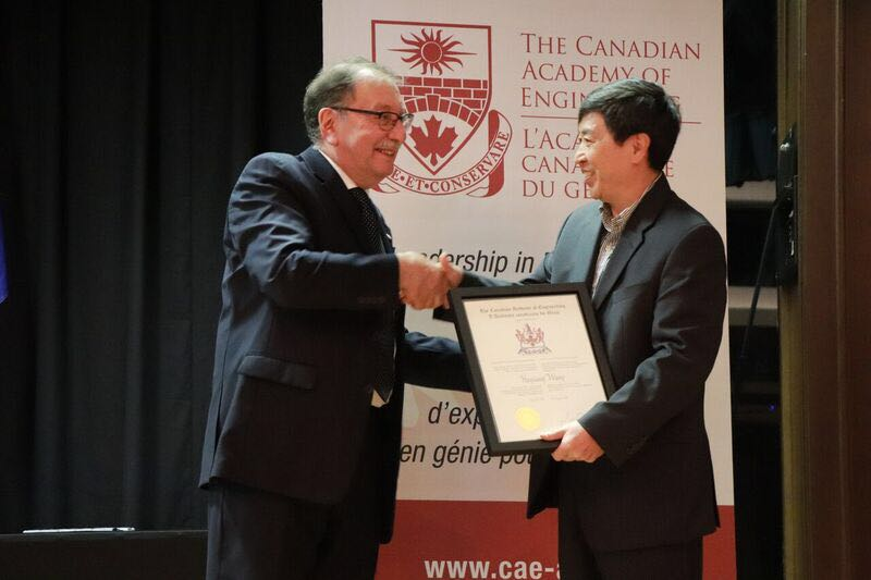 热烈祝贺我系王海江教授完成院士授予仪式,当选为加拿大工程院院士